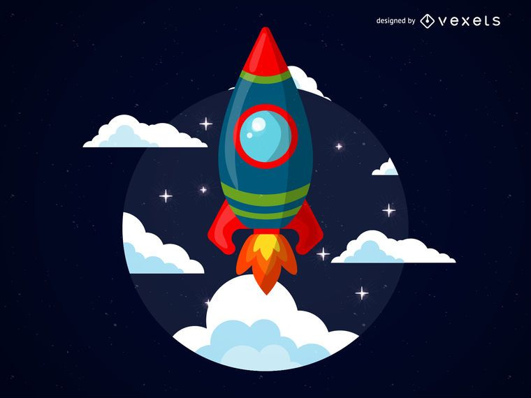 Cartoon rocket illustration