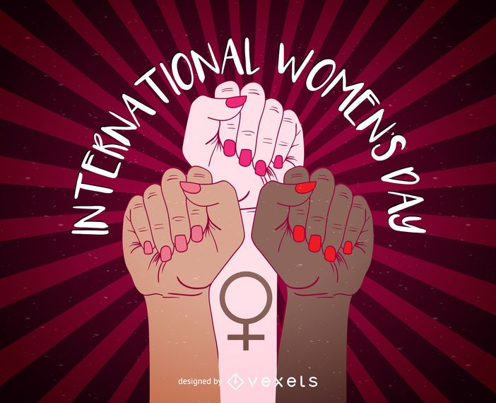 Diseño de carteles del Día Internacional de la Mujer