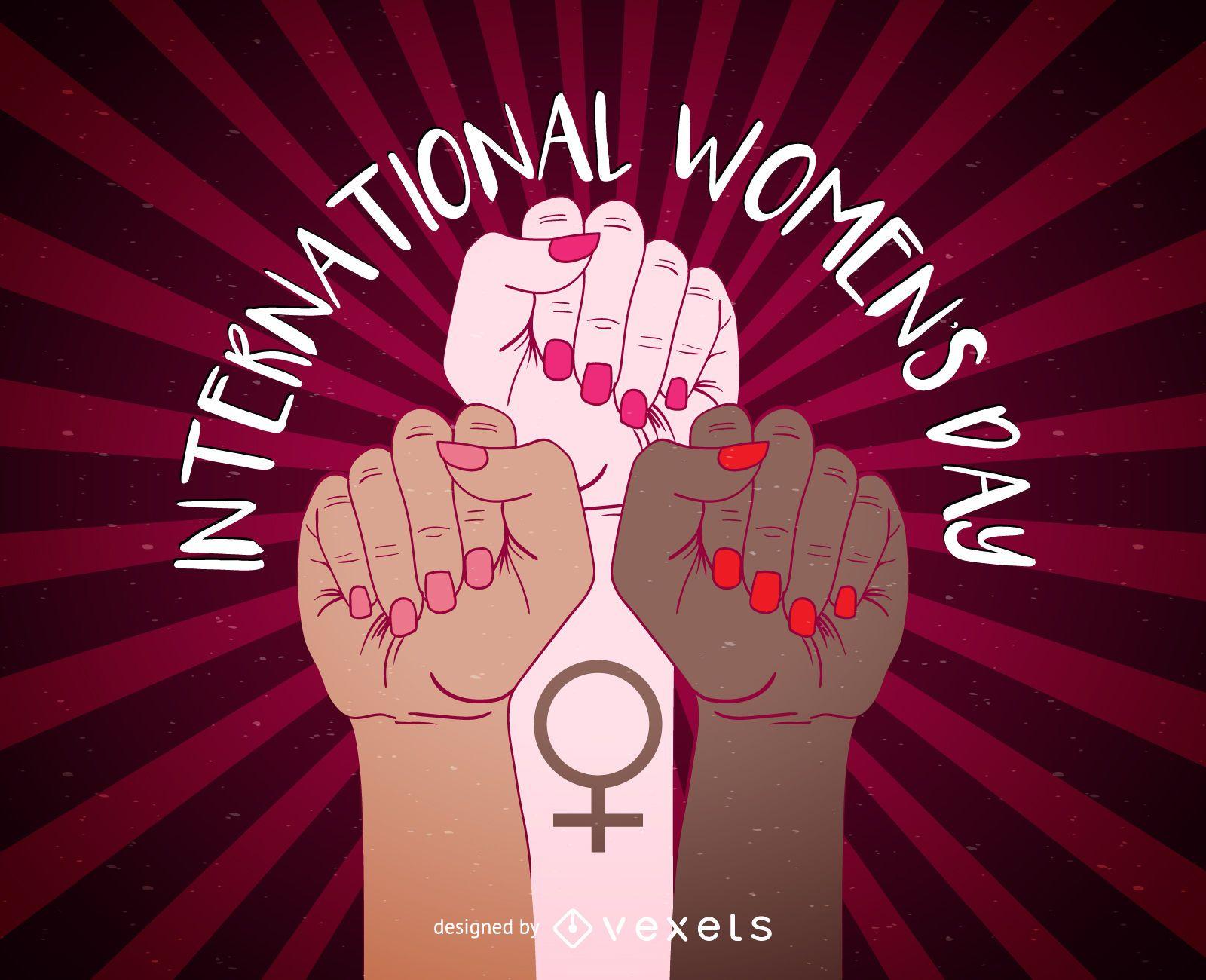 Design do p?ster do Dia Internacional da Mulher