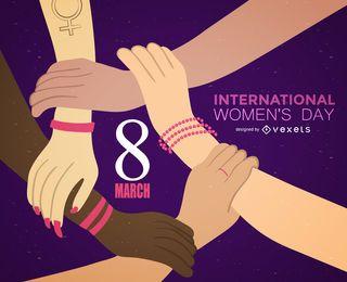Ilustración del Día Internacional de la Mujer 8 de marzo