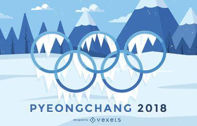Cartaz das Olimpíadas de Inverno de 2018