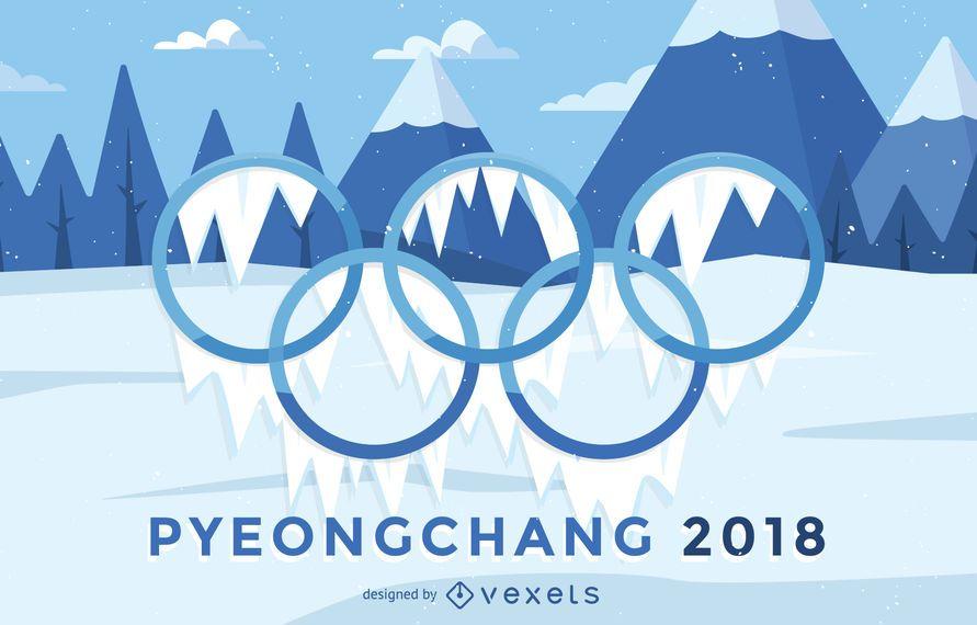 Cartel de los Juegos Olímpicos de Invierno 2018