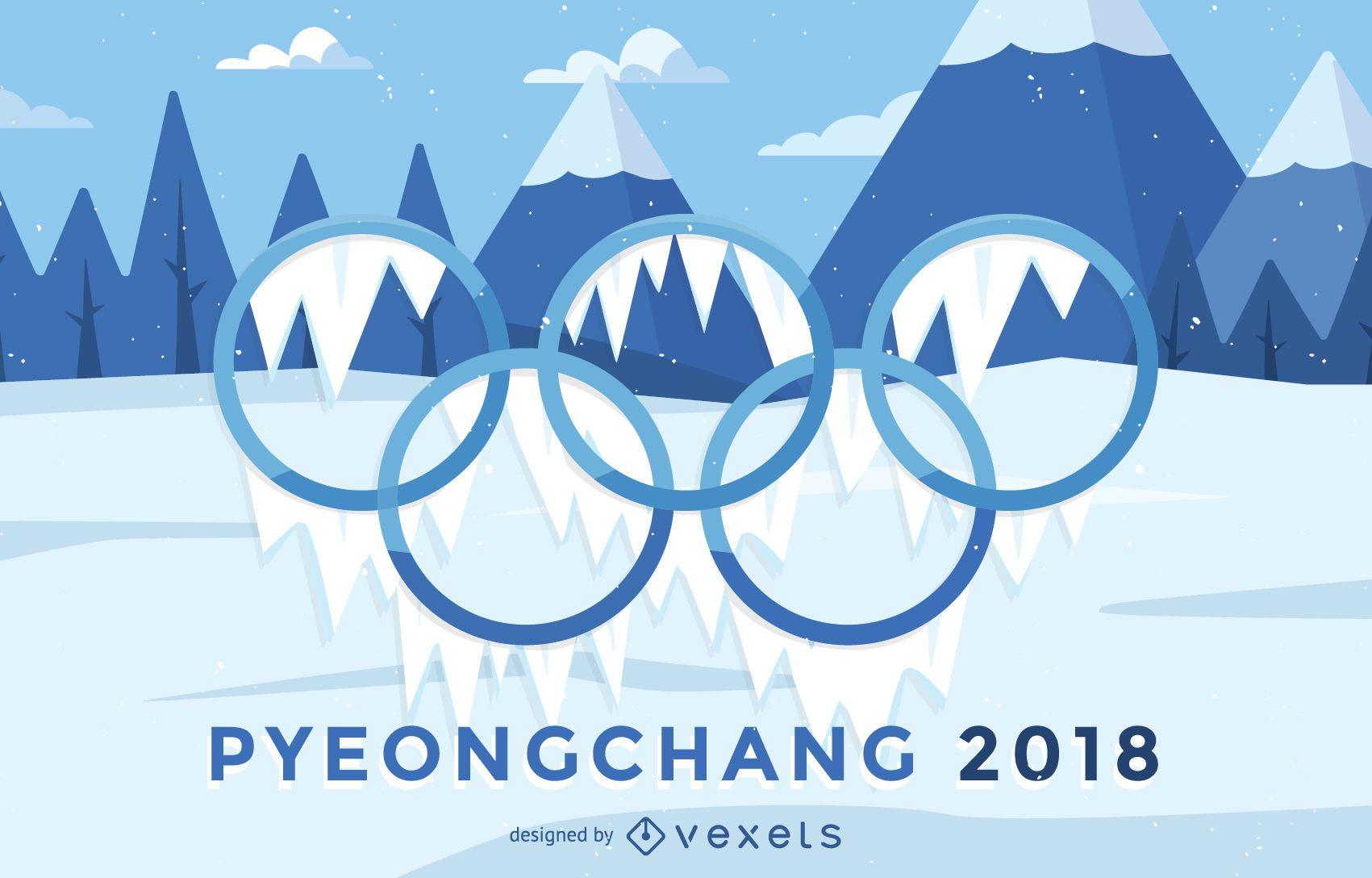 2018 Winter Olympics poster