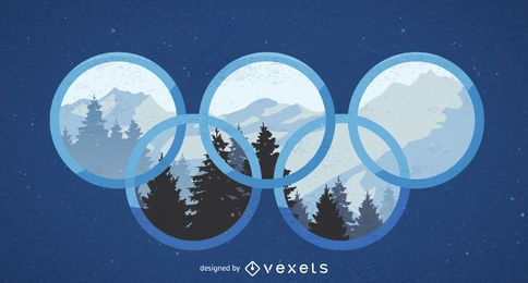 Winter Olympics 2018 design