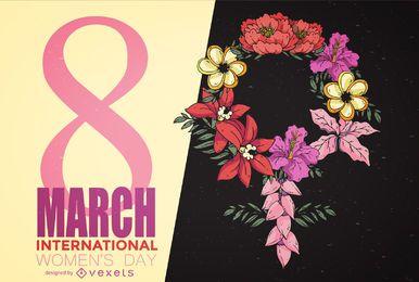 Cartel del día de la mujer del 8 de marzo.