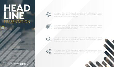 Diseño de plantilla de cubierta de presentación