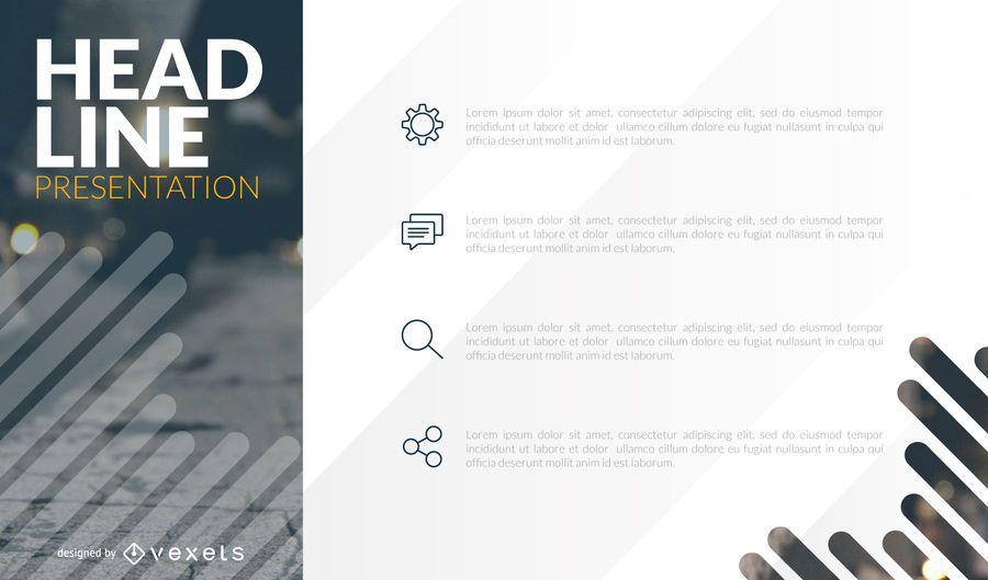 Diseño de plantilla de presentación