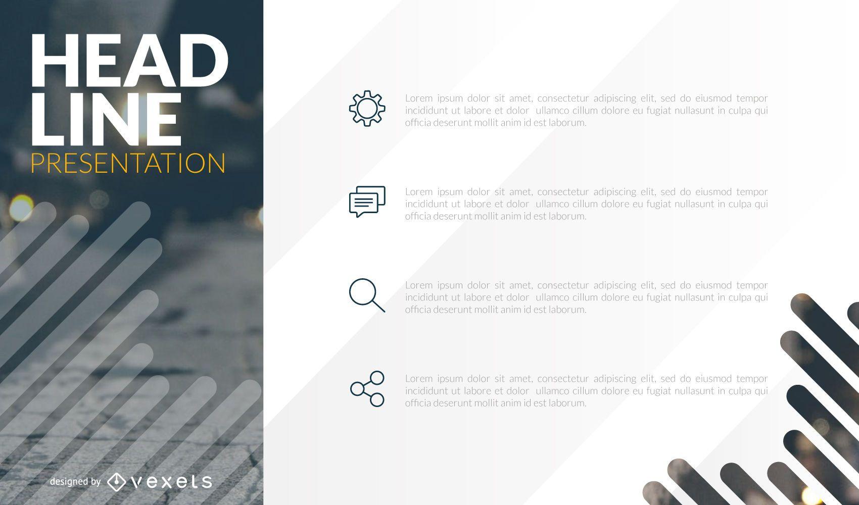 Presentation deck template design