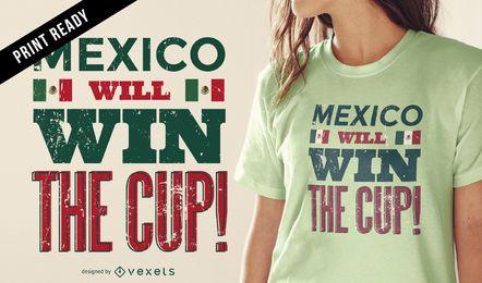 Rússia 2018 México t-shirt design