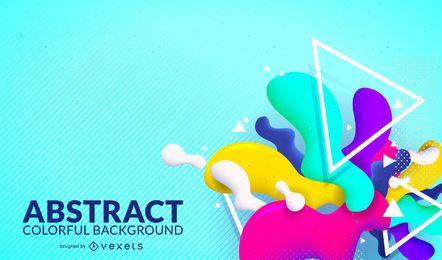 Fondo abstracto colorido brillante