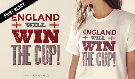Projeto do t-shirt de Inglaterra do copo de Rússia