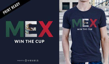 Rússia 2018 campeão do México design de t-shirt