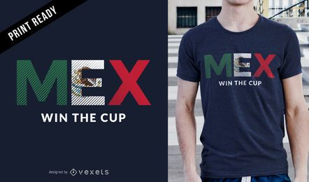 Russia Soccer Cup Mexico champion t-shirt design