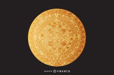 Aztec calendar illustration
