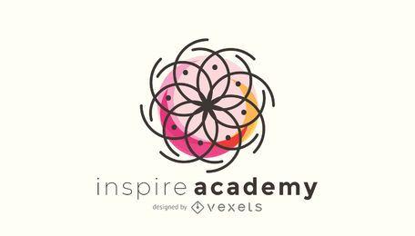 Plantilla de logotipo con geometría sagrada
