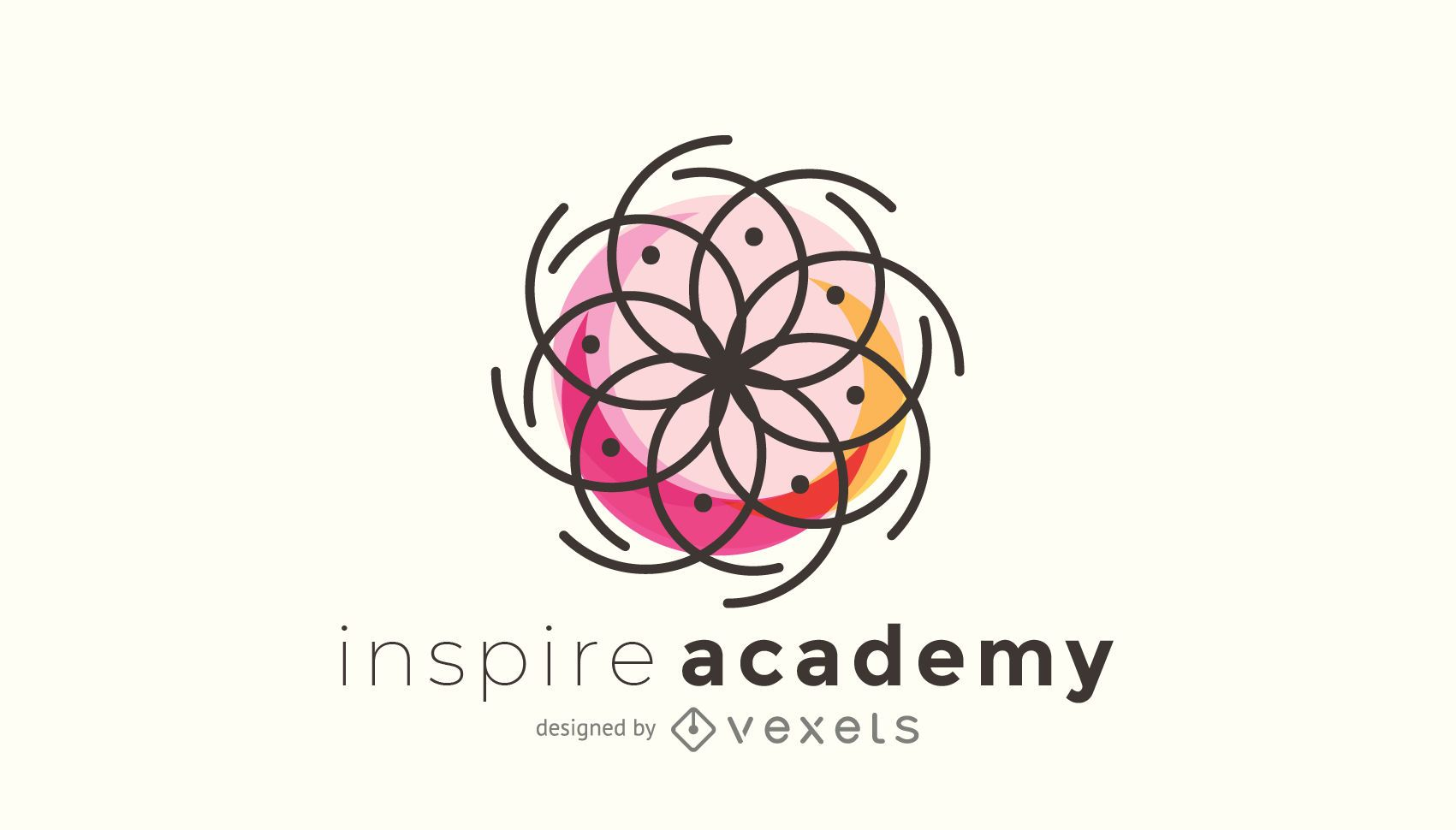 Logo template with sacred geometry