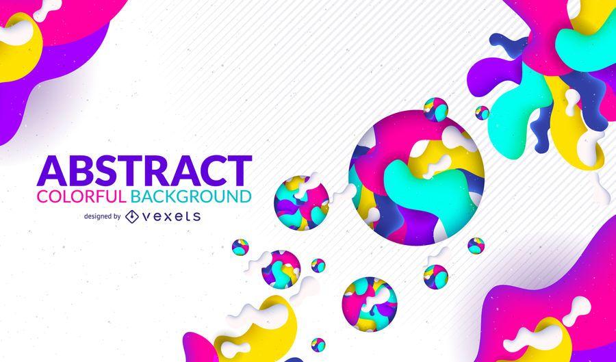 Fondo abstracto con gradientes de colores