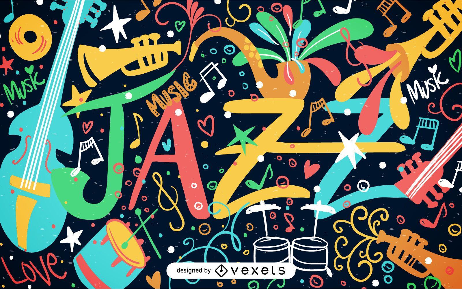 Jazz poster illustration