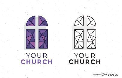 Conjunto de plantillas de logotipo de la iglesia