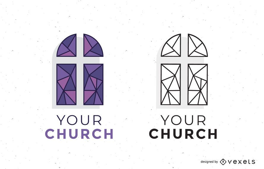 set of church logo templates vector download