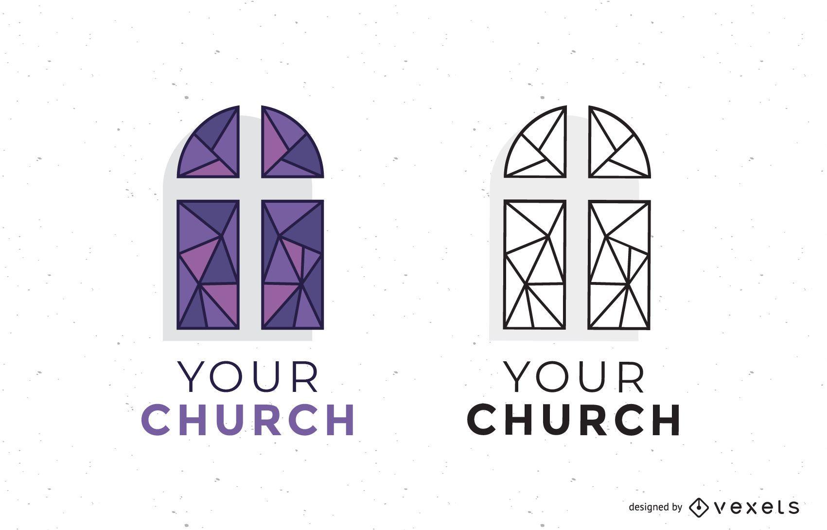 Conjunto de logotipos da Igreja