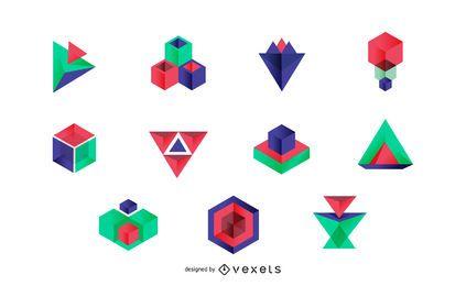 Colección de plantillas de logotipos abstractos