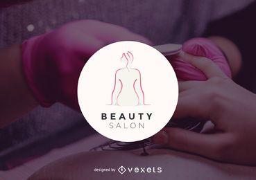 Modelo de logotipo de salão de beleza
