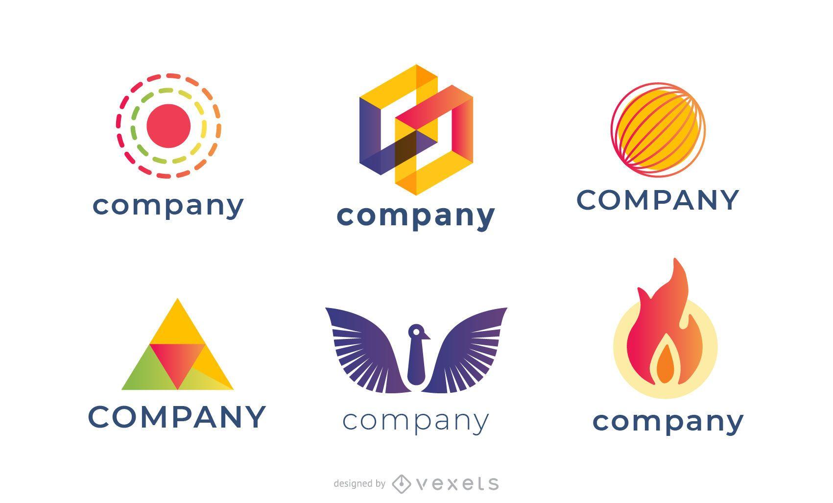 Variedad de diseños de plantillas de logotipos