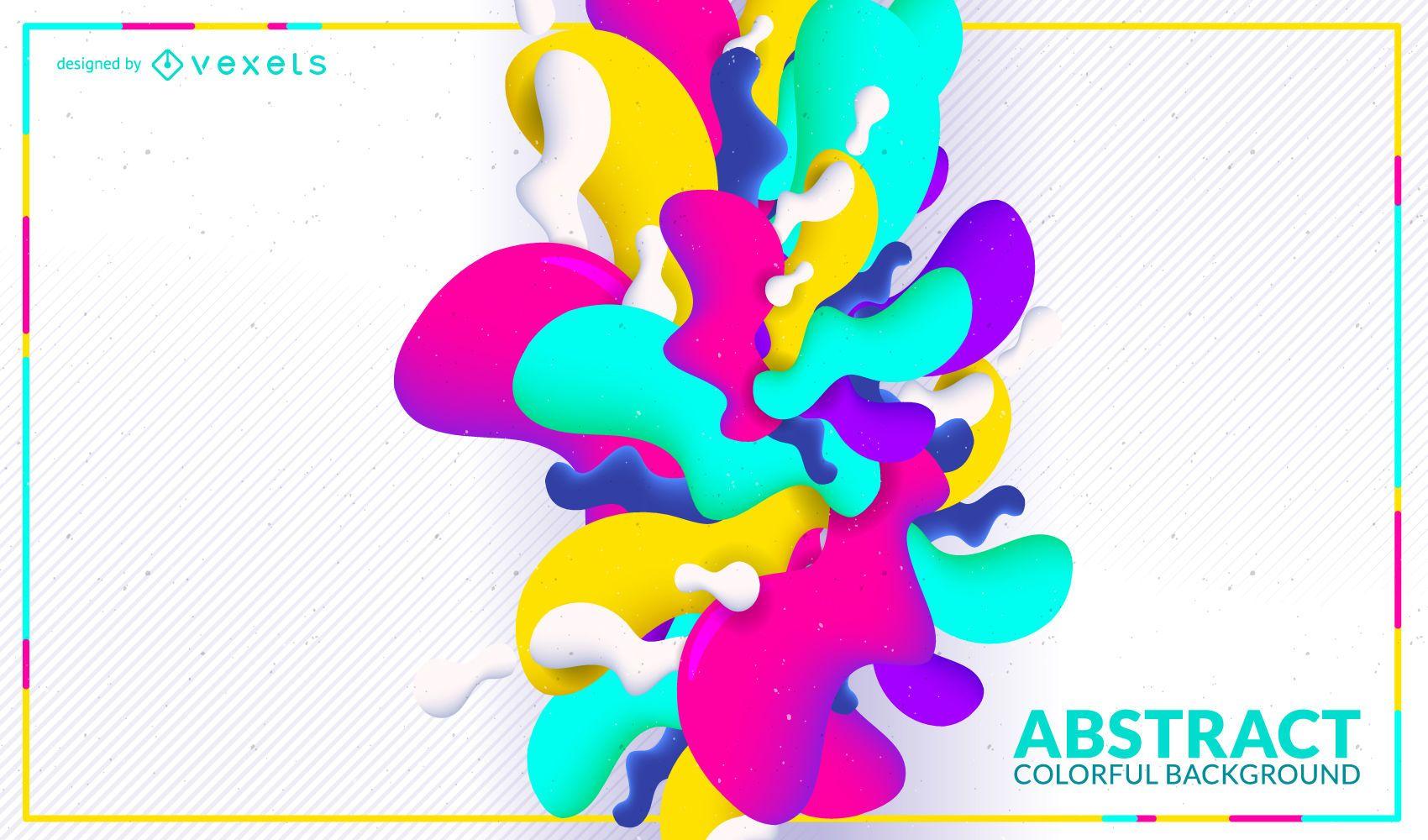 Bright shapes background design