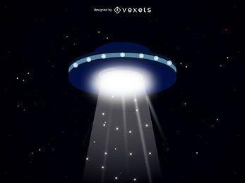Ilustración de nave espacial extraterrestre