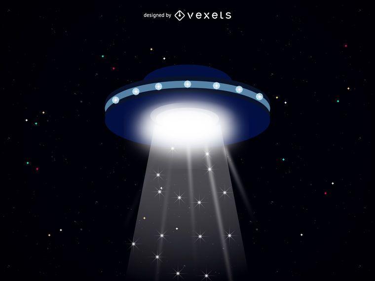 Ilustração Da Nave Espacial Alienígena