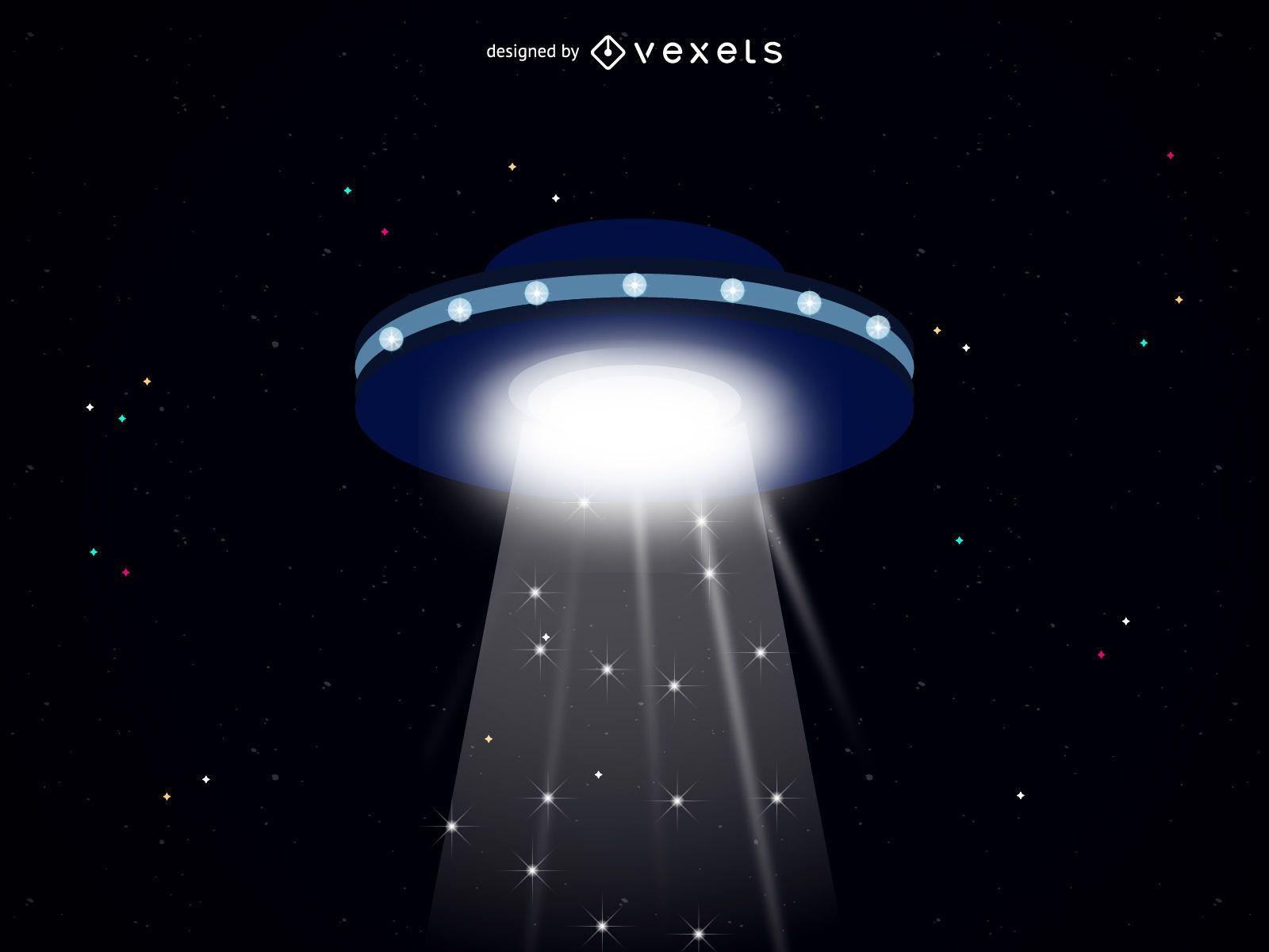 Alien spaceship illustration
