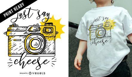 Diseño de camiseta de cámara vintage