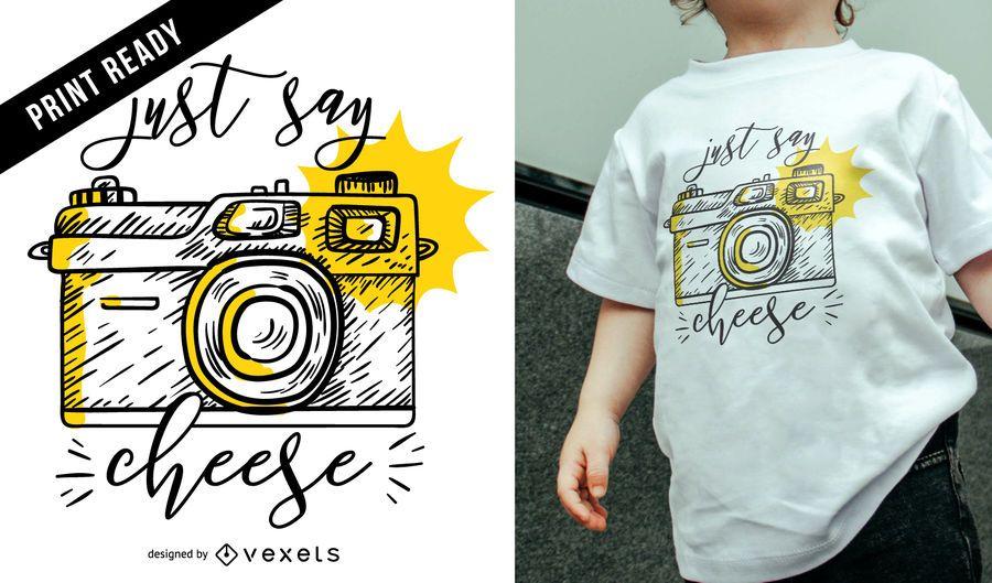 Design de t-shirt da câmera do vintage