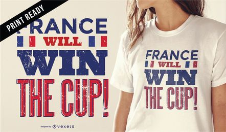 Diseño de camiseta Rusia 2018 Francia