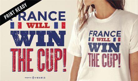 Rússia 2018 França t-shirt design