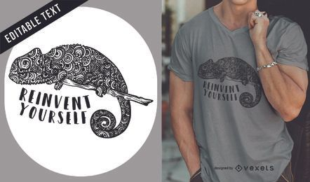 Chameleon illustration t-shirt design