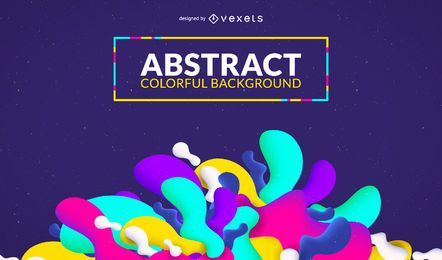 Colorful shapes background design
