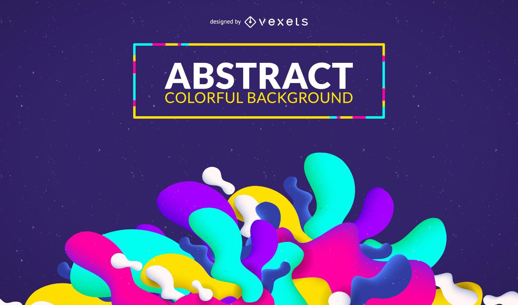 Colorful shapes background design