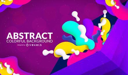 Diseño abstracto colorido del fondo