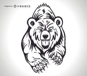 Projeto irritado do urso pardo
