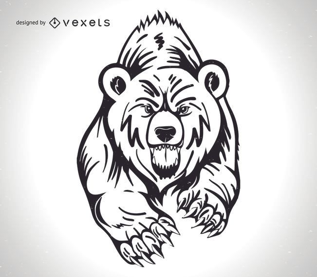 Wütend Grizzly Bear Design