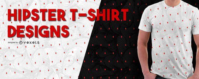 Diseño de la camiseta patrón de hipster