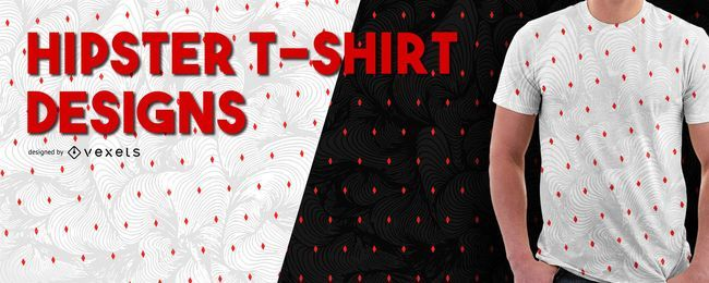 Diseño de camiseta con estampado hipster