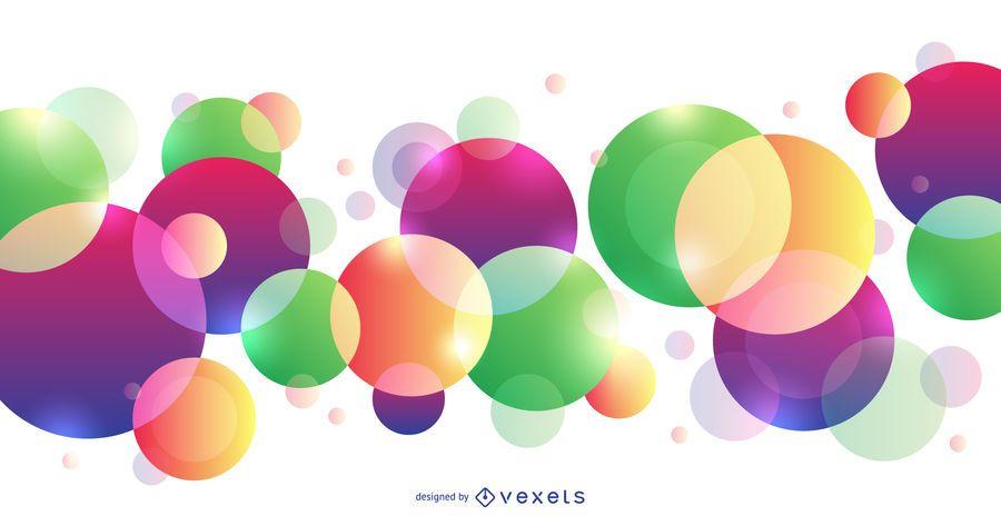 Fundo abstrato colorido com círculos