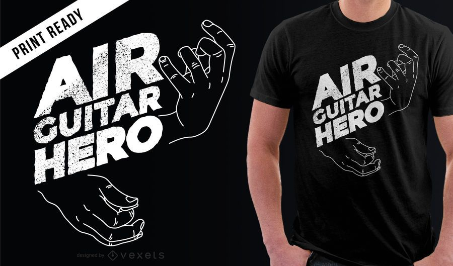 Funny Air Guitar Hero camiseta