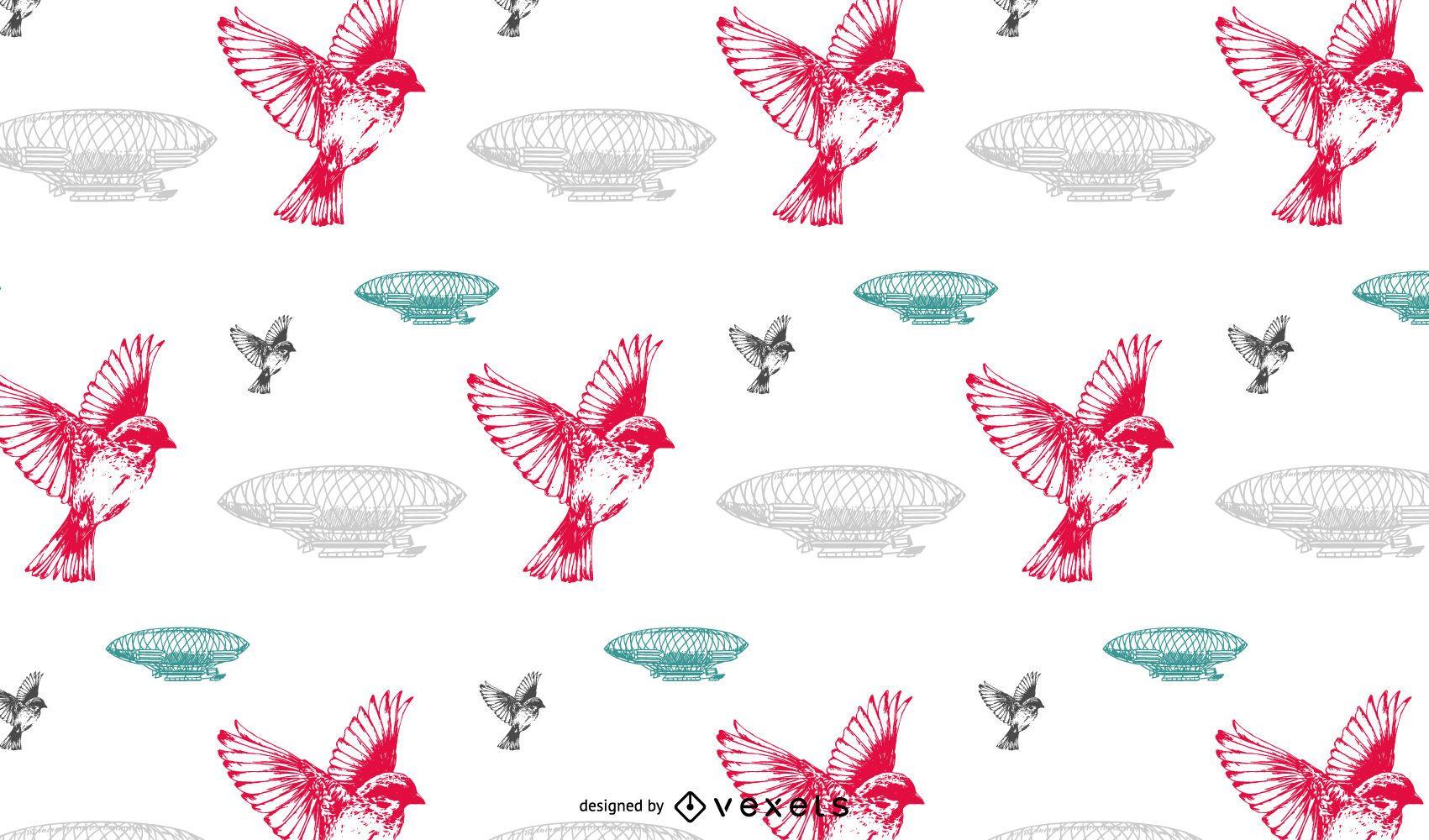 Diseño de patrones vintage sin fisuras