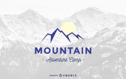 Plantilla de logotipo de montaña abstracta