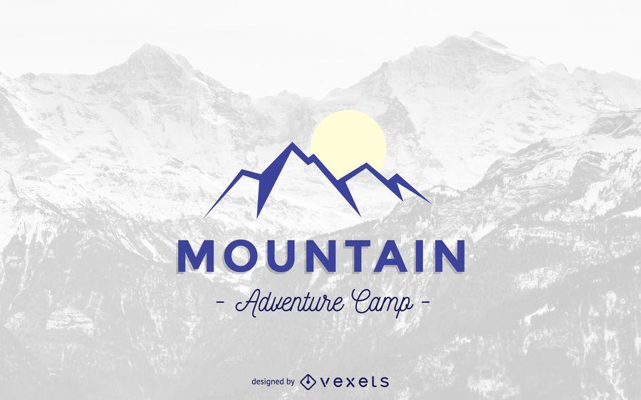 Modelo de logotipo de montanha abstrata