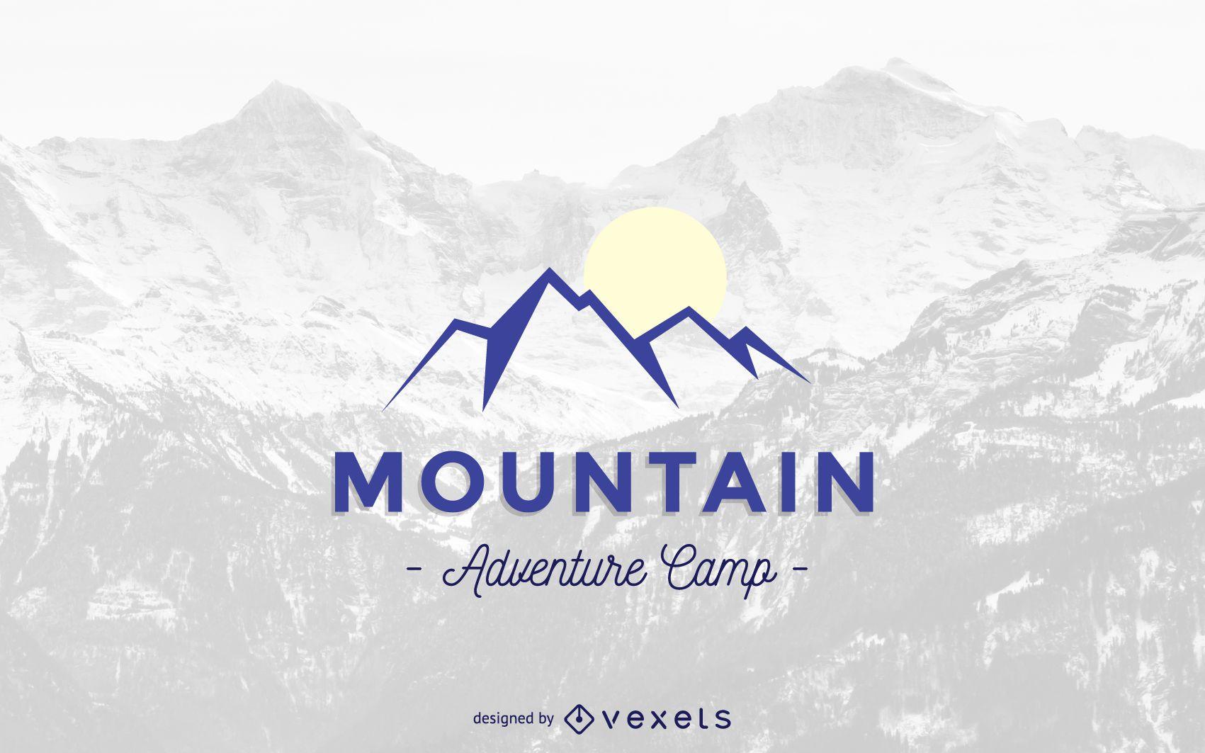 Modelo de logotipo abstrato de montanha